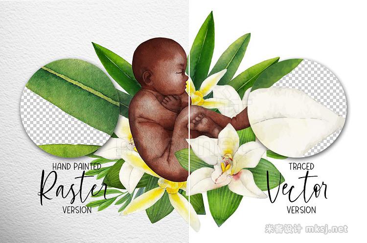 png素材 Watercolor baby