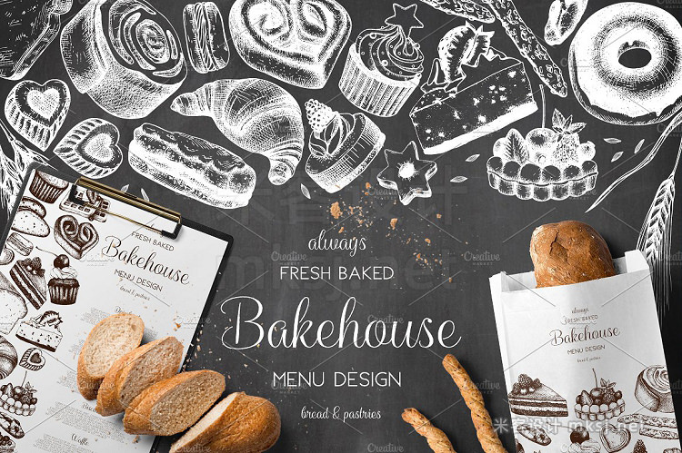 png素材 Bakery Menu Design