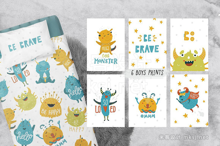 png素材 Cute Monsters - Kids collection