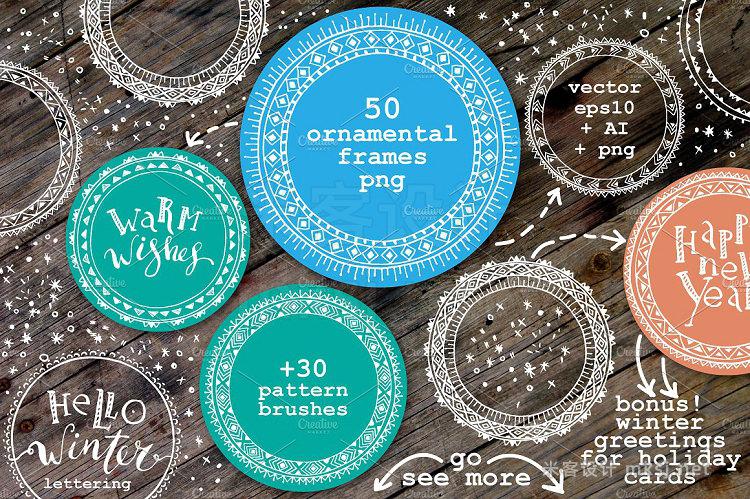 png素材 Ornamental frame set