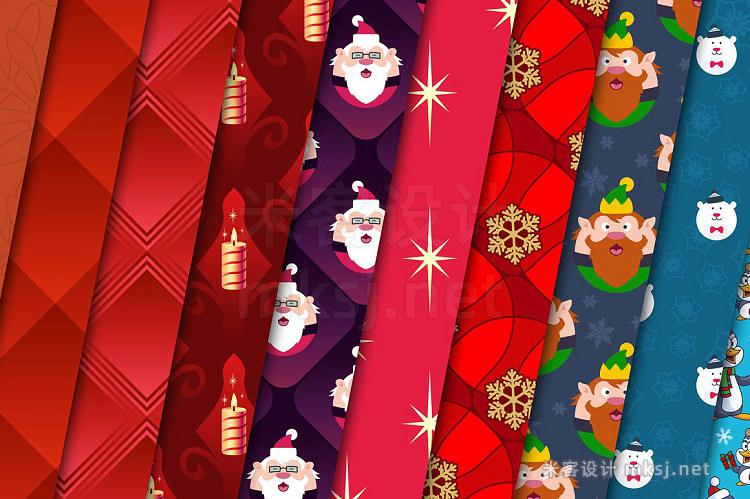 png素材 100 Christmas Seamless Patterns