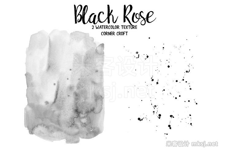 png素材 Black Rose Watercolor Clip Art