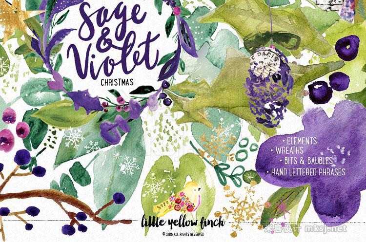 png素材 Sage and Violet Christmas