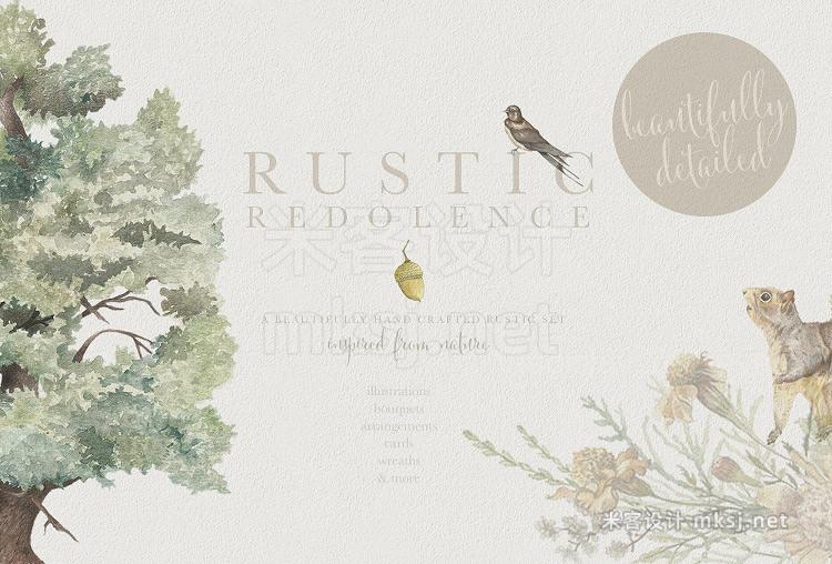 png素材 Rustic Redolence - Graphic Set