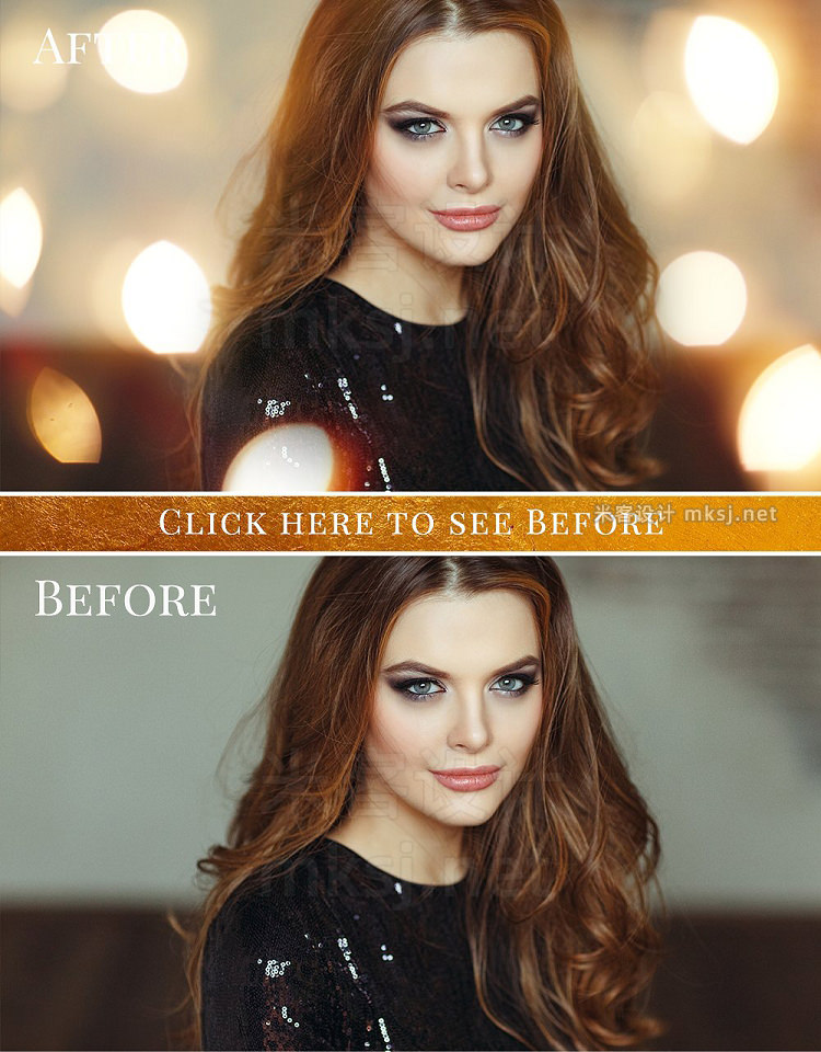 png素材 Gold Bokeh photo overlays