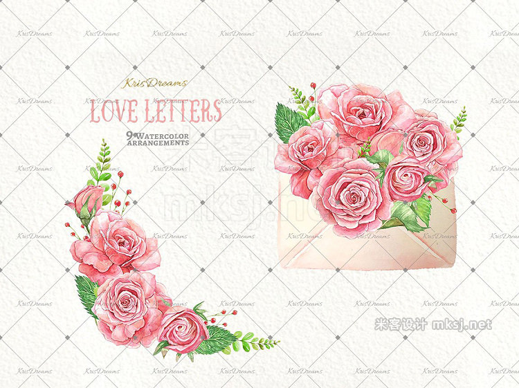 png素材 Love Letter Watercolor Clipart