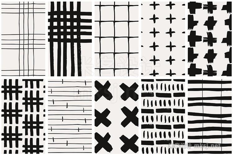 png素材 Handdrawn Lines Patterns