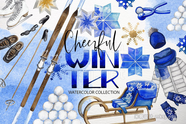png素材 Watercolor winter colletion