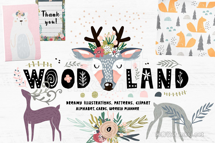png素材 Woodland mood
