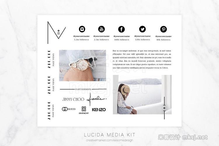 png素材 Media Kit Template