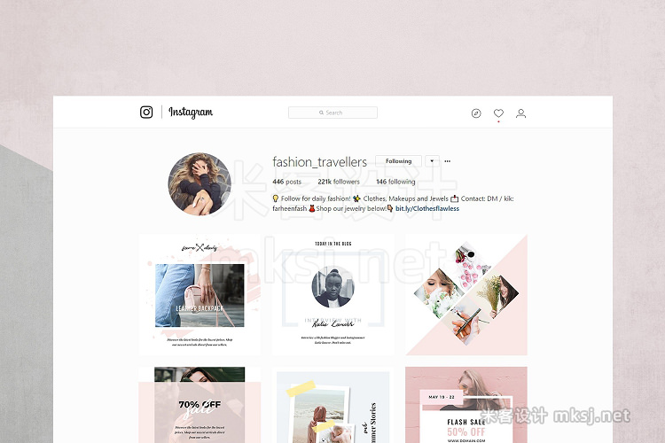 png素材 Modern Instagram Pack