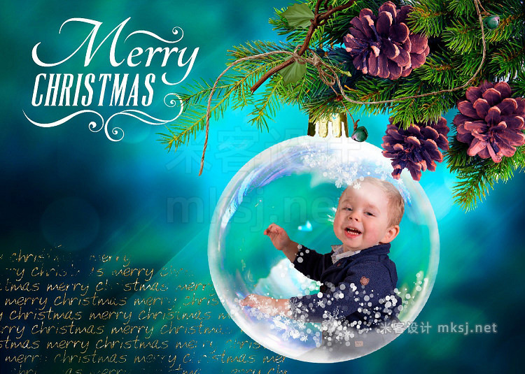 png素材 Christmas Snow Globes photo overlays