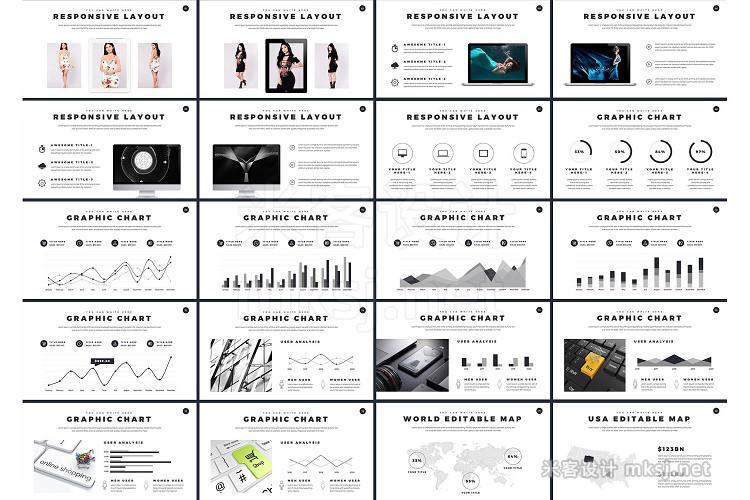 PPT模板 Minimal Powerpoint Presentation