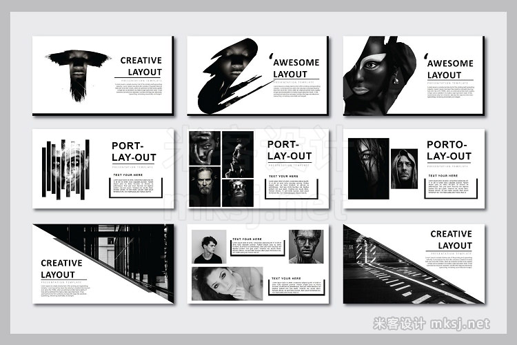 PPT模板 Napoleon Powerpoint Template