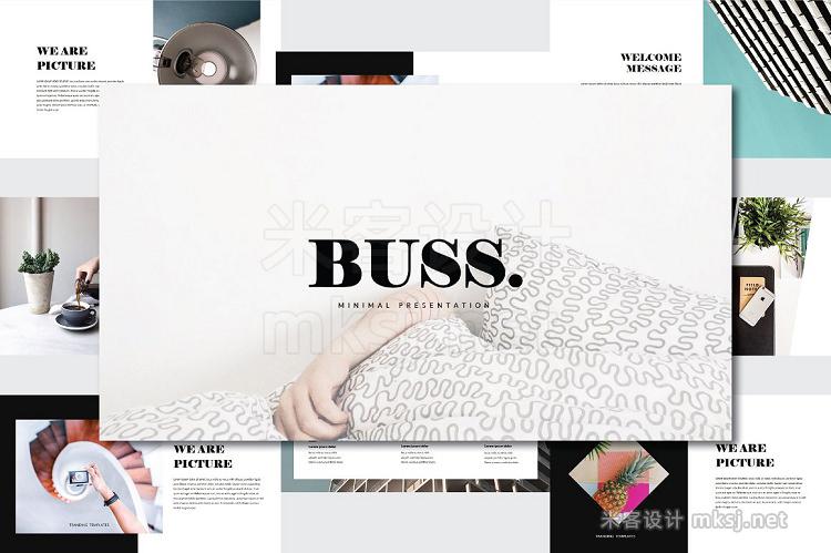 PPT模板 Buss Minimal Presentation