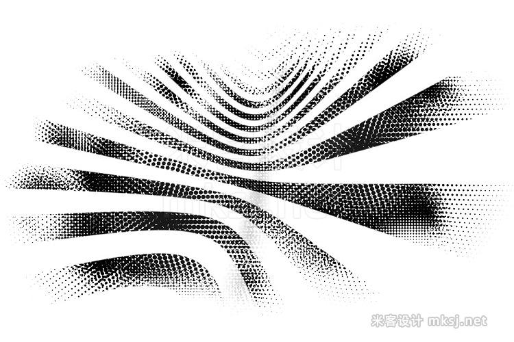 半色调复古插图纹理procreate笔刷 14 Halftone Procreate & PS Brushes