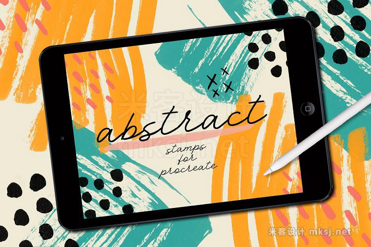 93款抽象艺术procreate笔刷 ABSTRACT STAMPS FOR PROCREATE